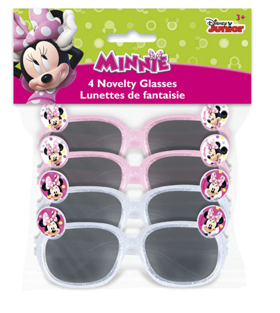 Minnie Mouse Novelty Glasses 4pk
