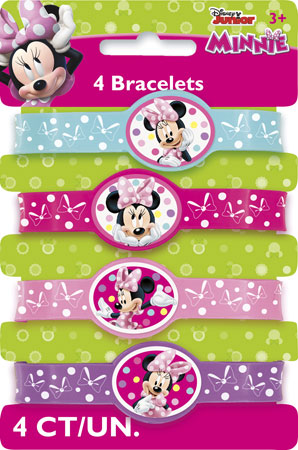 Minnie Mouse Stretchy Bracelets 4pk
