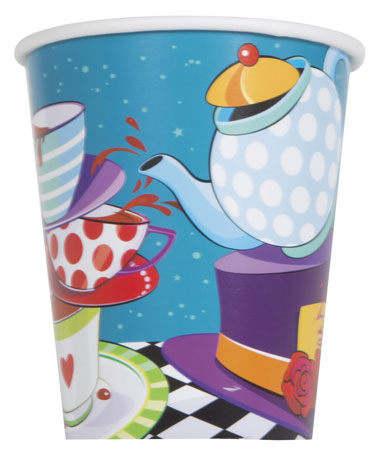 Mad Hatter Tea Party 9oz Cups 8pk