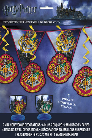 Harry Potter 7pc Decoration Kit