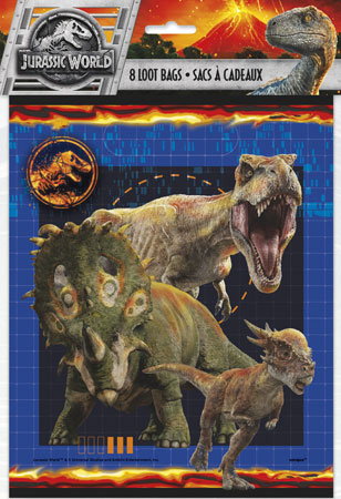 Jurassic World Loot Bags 8pk