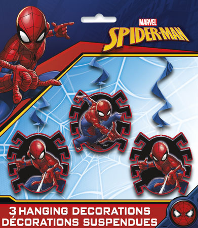 Spider-Man Hanging Swirl Decorations