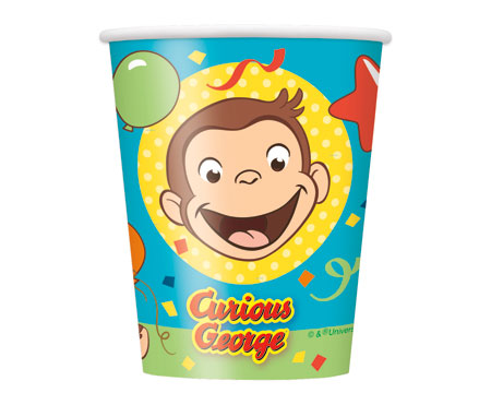 Curious George 9oz Cups 8ct