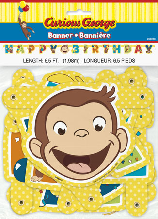Curious George Jointed Party Banner