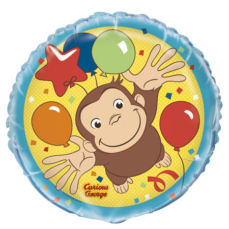 Curious George 18in Foil Balloon