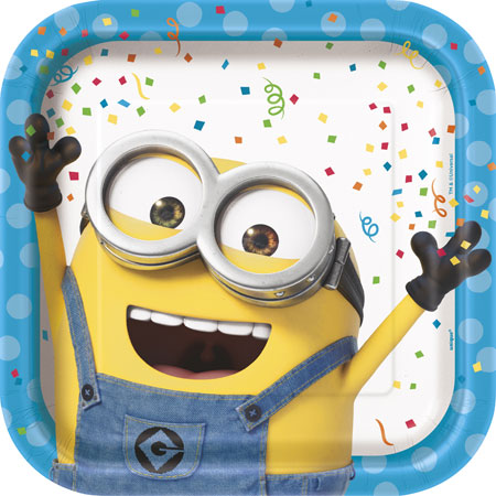 Despicable Me Square Dinner Plates 8ct