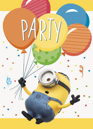 Despicable Me Party Invitations 8ct