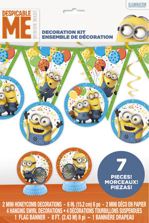 Despicable Me Decoration Kit 7pc