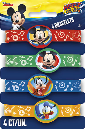 Mickey Mouse Roadster Racers Stretchy Bracelets 4pk
