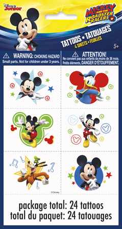 Mickey Mouse Roadster Racers Temp Tattoos