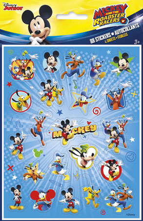 Mickey Mouse Roadster Racers Sticker Sheets 4pk
