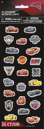 Disney Cars 3 Puffy Stickers