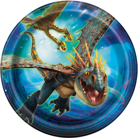 How to Train Your Dragon Dessert Plates 8pk