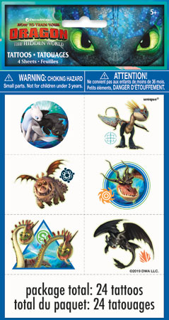 How to Train Your Dragon Temp Tattoos