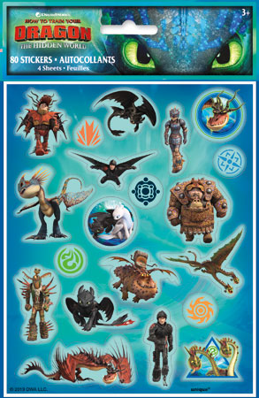How to Train Your Dragon Sticker Sheets 4pk