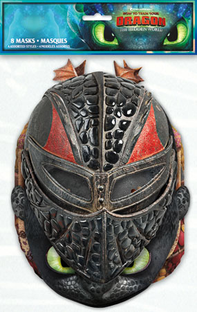 How to Train Your Dragon Party Masks 8pk