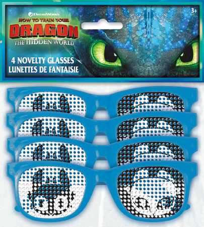 How to Train Your Dragon Pindot Novelty Glasses 4pk