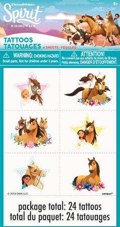SPIRIT Riding Free Temp Tattoos