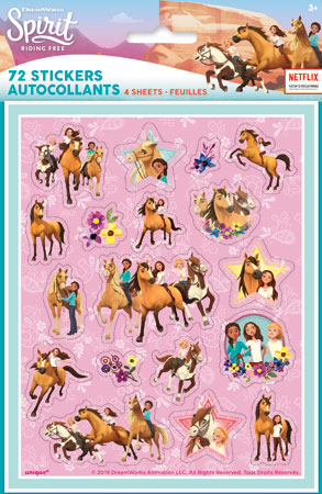 SPIRIT Riding Free Sticker Sheets 4pk
