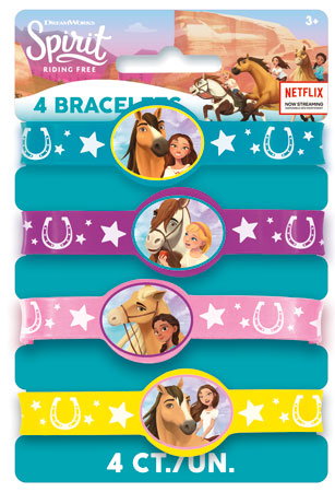 SPIRIT Riding Free Stretchy Bracelets 4pk
