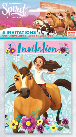 SPIRIT Riding Free Invitations 8pk