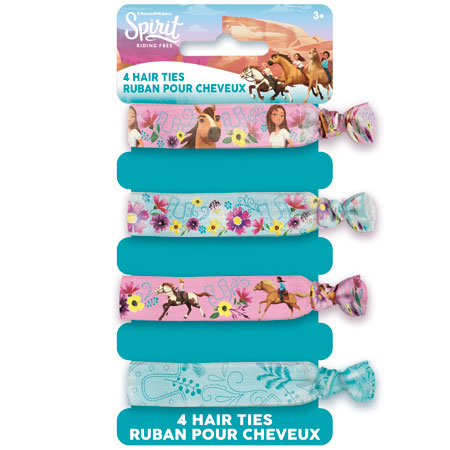 SPIRIT Riding Free Themed Hair Ties 4pk