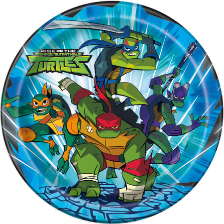 Teenage Mutant Ninja Turtles Lunch Plates 8pk