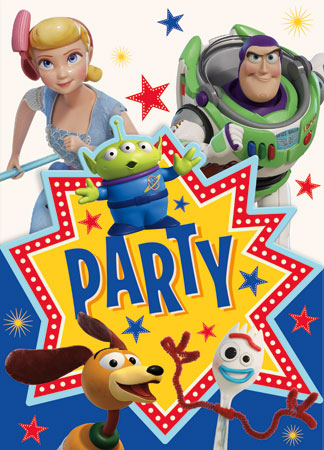 Toy Story 4 Party Invitations 8pk