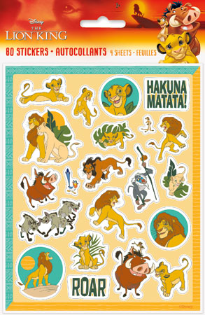 Lion King Sticker Sheets 4pk