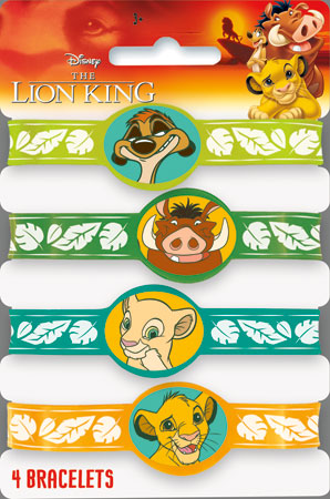 Lion King Stretchy Bracelets 4pk