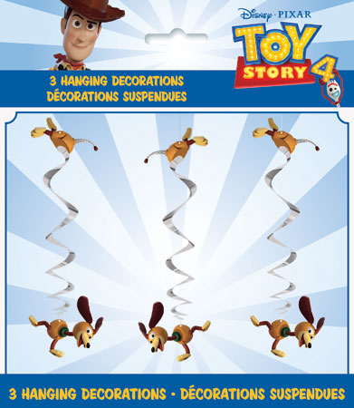 Toy Story 4 Hanging Swirl Decorations 3pk