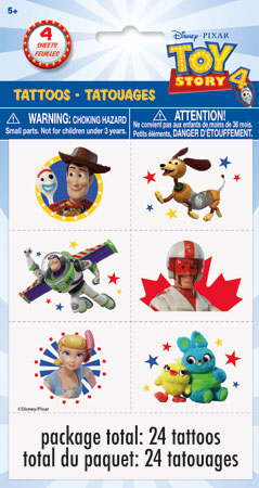 Toy Story 4 Temp Tattoos 24pk