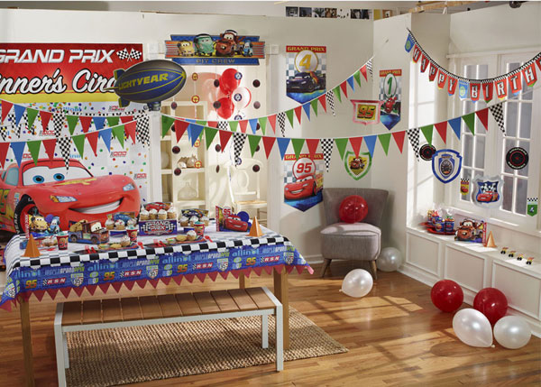 Disney cars party supplies kids party supplies at for Balloon decoration cars theme