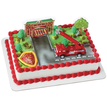 Fire Truck Cake Decoration Kit