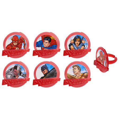 Justice League Cupcake Rings 12pk