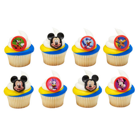 Mickey Roadster Racers Cupcake Rings 12pk