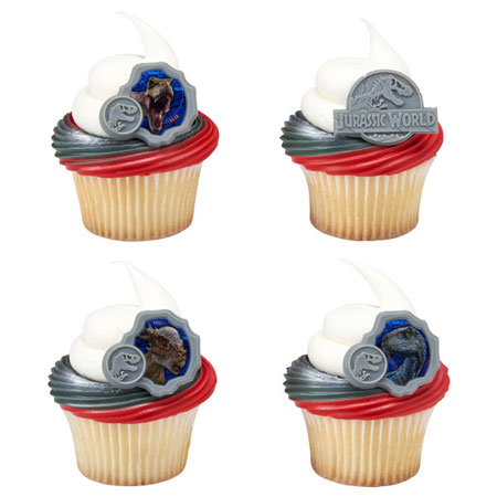 Jurassic World Cupcake Rings 12pk