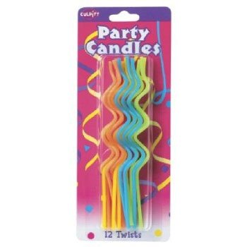 Party Cake Candles Twists