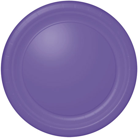 Solid Simply Purple Dinner Plates